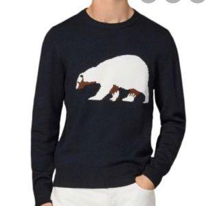 NWT Sandro Paris Men's Polar Bear Sweater
